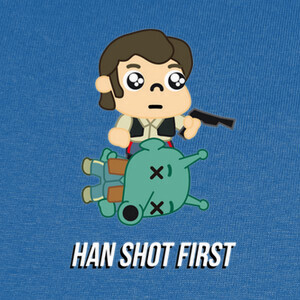 Camisetas ExM12 - Star Wars - Han shot first
