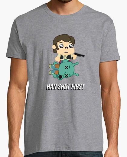 Camiseta ExM12 - Star Wars - Han shot first chico