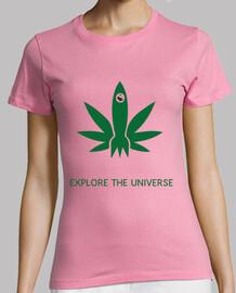 Explore the universe T-Shirt Woman Yellow