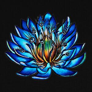 Tee-shirts extraña flor de lirio de agua azul de o