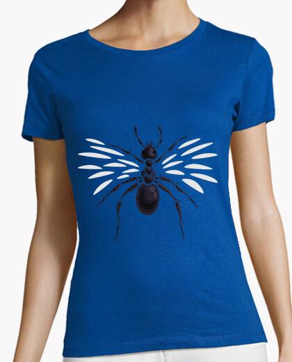 Camiseta extraña hormiga voladora abstracta