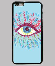 extraño psicodélico ojo azul