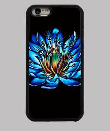 extraña flor de lirio de agua azul de ojos múltiples