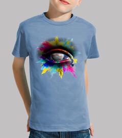 eye dell'universo - bambino, maniche corte, azzurro