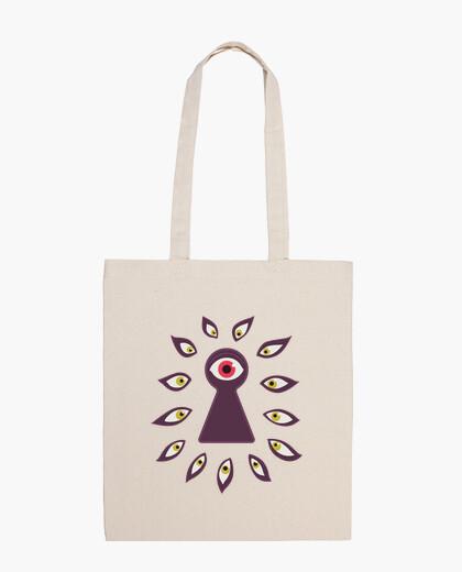 Eye Through Keyhole Staring Eyes Anxiet bag