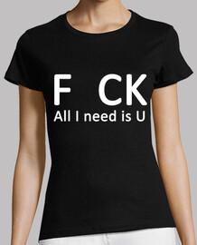 f ck. all i besoin est u (blanc)