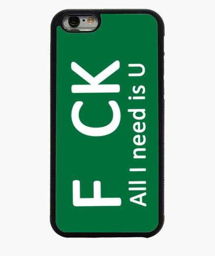 Funda iPhone 6 / 6S F CK. All I need is U (blanco)