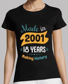 fabriqué en 2001 18 ans d39histoire
