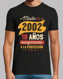 fabriqué en 2002, 18 ans à fabriqué en 1990, 30 ans à la perfection