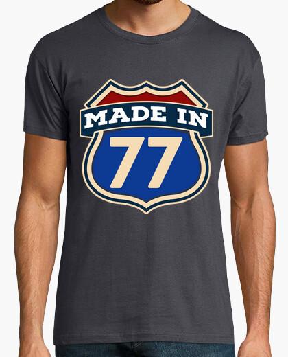 Tee-shirt fabriqué en 77
