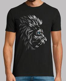 faccia di leone tribale