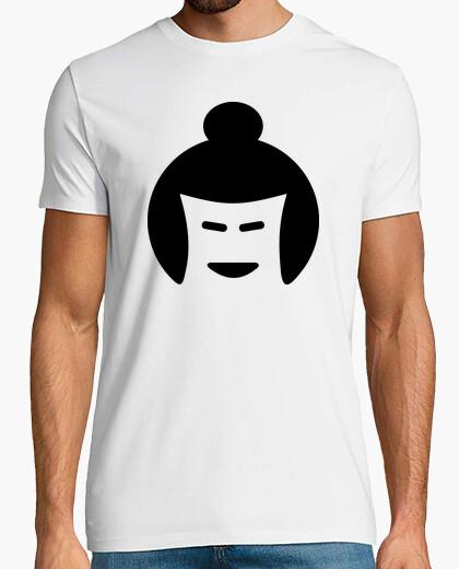 T-shirt faccia lottatore di sumo