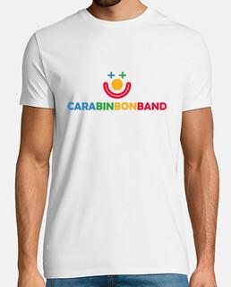 face bin bon band - uomo, manica corta, bianco, extra quality - logo face bin bon band