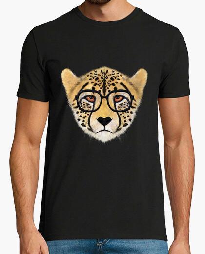 Tee-shirt face guépard avec des lunettes
