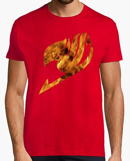 Camiseta Fairy tail logo fuego