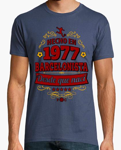 Tee-shirt fait en 1977 barcelonista depuis la naissance