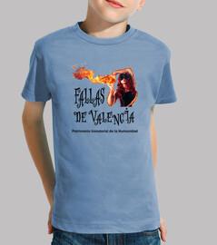 Fallas de Valencia - Camiseta para niño de manga corta