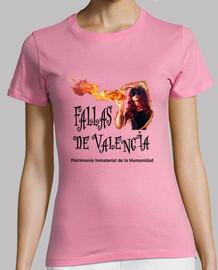 fallas di valencia - manica corta camicia della ragazza