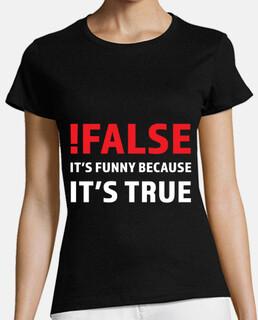 falso è divertente perché è vero