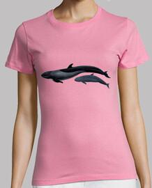 falso killer whale t-shirt donna