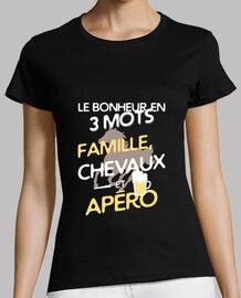 familia - caballos - aperitivo