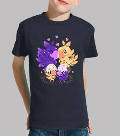 familia cariñosa del choco - camisa de los niños