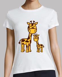 familia de la jirafa cómica