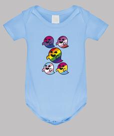 famille de gaysper. corps de bébé, bleu clair