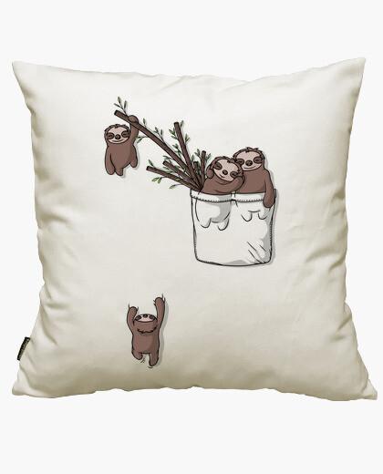 Housse de coussin famille de poche sloth