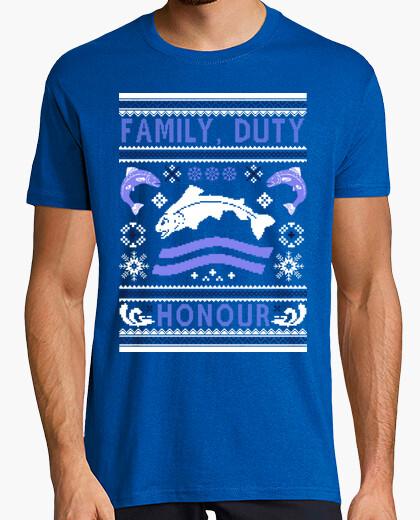 Tee-shirt famille, le devoir, l' honneur ugly pull - over