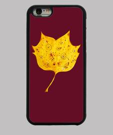 fantasía caprichosa hoja de otoño amarillo