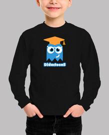 Fantasma Didactoons - Camiseta Azul Retro Infantil