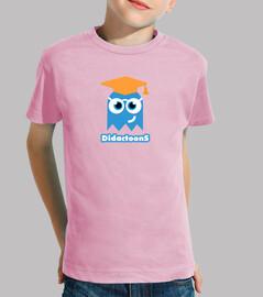 Fantasma Didactoons - Camiseta Rosa Infantil