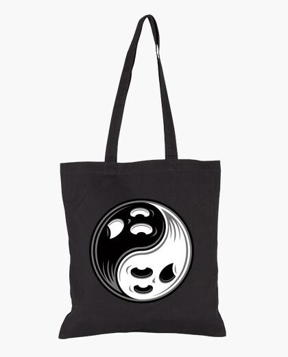 Bolsa fantasma yin yang en blanco y negro