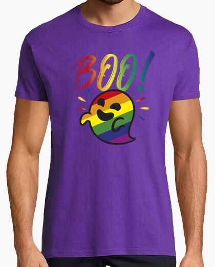 Tee-shirt fantôme gaysper. homme, manches courtes, violet, qualité extra