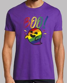 fantôme gaysper. homme, manches courtes, violet, qualité extra