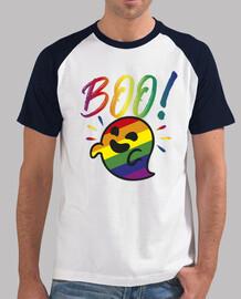 fantôme gaysper. homme, style baseball, blanc et bleu royal