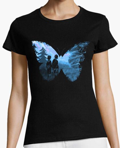 T-shirt farfalla blu