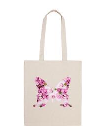 farfalla rosa, shabby chic borsa tela , farfalla rosa, shabby chic cotone 100