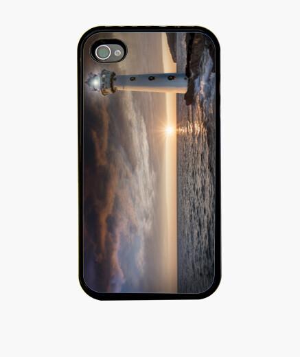 Funda iPhone Faro en una puesta de sol