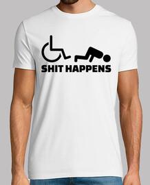 fauteuil roulant merde se