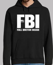 fbi, lleno bretón en el interior - hombre sudadera