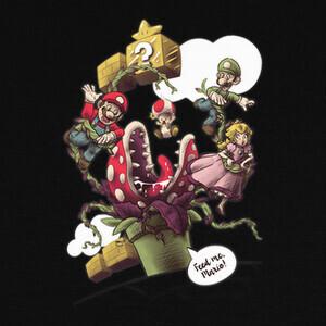 Camisetas Feed me, Mario - Color
