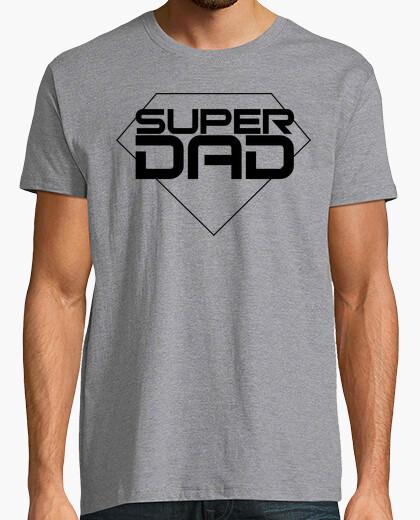 T-shirt felice day padri - uomo, maniche corte, vigore grigio, qualità extra