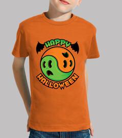 felice halloween fantasma yin-yang