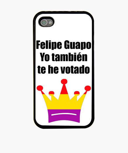 Funda iPhone Felipe republicano, blanca