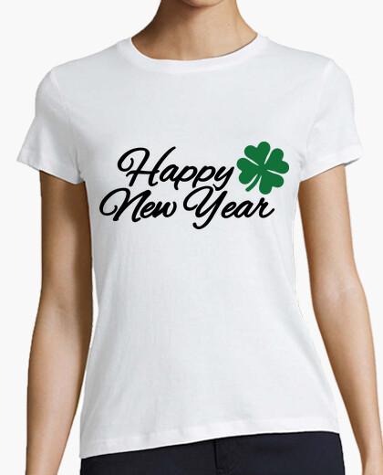 Camiseta feliz año nuevo trébol