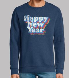 feliz año nuevo vintage desgastado