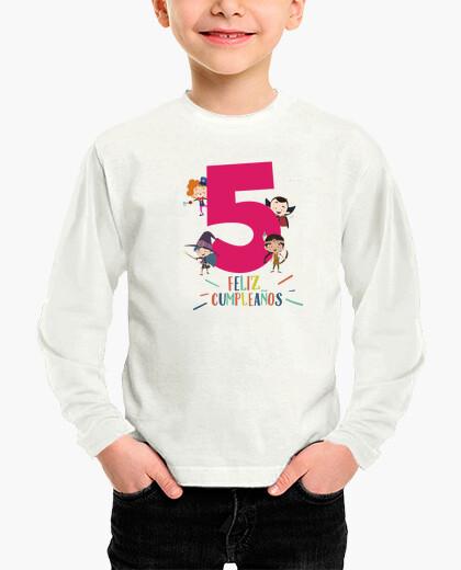 Ropa infantil Feliz cinco años