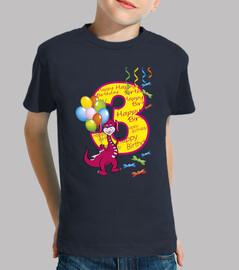 feliz cumpleaños número 3 dragón